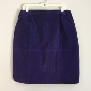 {Vintage} Suede Purple Skirt Sz 18W